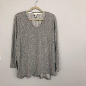 Ava & Viv | Gray Long Sleeve Shirt XL